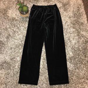 Chico's Black Velvet Pants Size 0 Womens XS Short